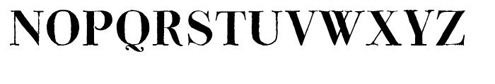 Bodoni Classic Hand Bold Font UPPERCASE