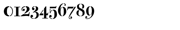Bodoni Classic Stencil Font OTHER CHARS