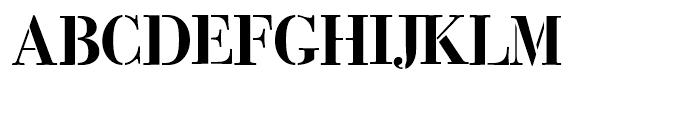 Bodoni Classic Stencil Font UPPERCASE
