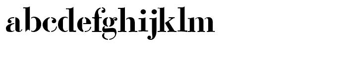 Bodoni Classic Stencil Font LOWERCASE