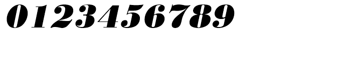 Bodoni Extra Bold Oblique Font OTHER CHARS