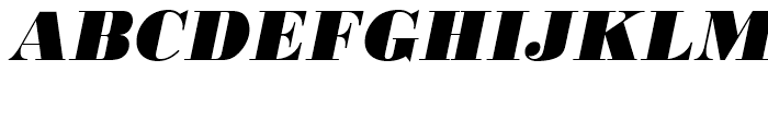 Bodoni Extra Bold Oblique Font UPPERCASE