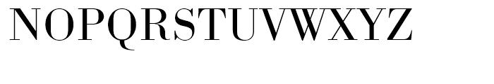 Bodoni Light Wide Font UPPERCASE
