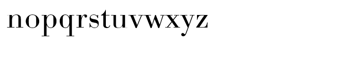 Bodoni Light Wide Font LOWERCASE