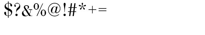 Bodoni Light Font OTHER CHARS