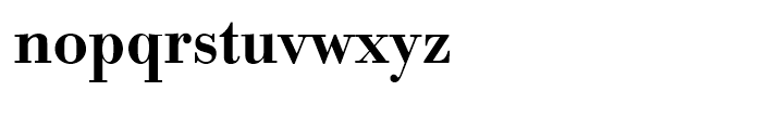 Bodoni Medium Narrow Font LOWERCASE