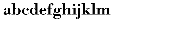 Bodoni Medium Wide Font LOWERCASE