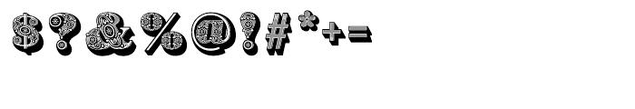 Bodoni Ornamental Font OTHER CHARS