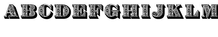 Bodoni Ornamental Font UPPERCASE