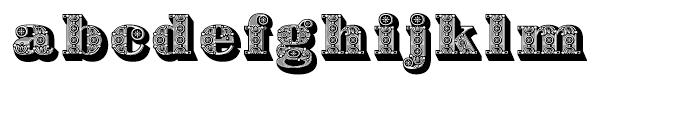 Bodoni Ornamental Font LOWERCASE