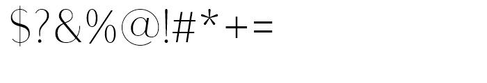 Bodoni Sans Light Font OTHER CHARS