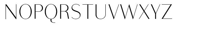Bodoni Sans Light Font UPPERCASE