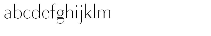 Bodoni Sans Light Font LOWERCASE