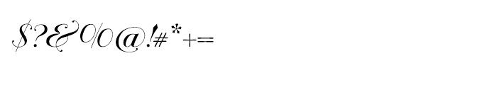 Bodonian Script 4 Font OTHER CHARS