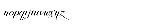 Bodonian Script 4 Font LOWERCASE