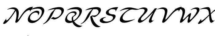 Bogdan Siczowy Cursive Font UPPERCASE