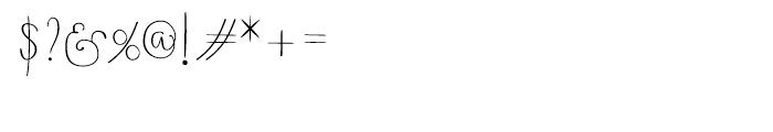 Boho Script Drop Regular Font OTHER CHARS