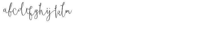 Boho Script Drop Regular Font LOWERCASE