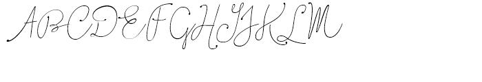 Boho Script Line Drop Italic Font UPPERCASE