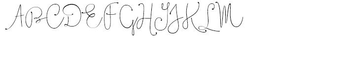 Boho Script Line Drop Regular Font UPPERCASE