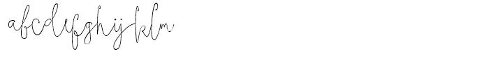 Boho Script Line Drop Regular Font LOWERCASE