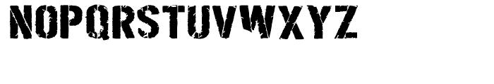 Boilerplate Stencil Bold Font LOWERCASE