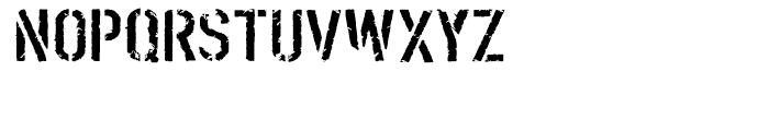 Boilerplate Stencil Font LOWERCASE