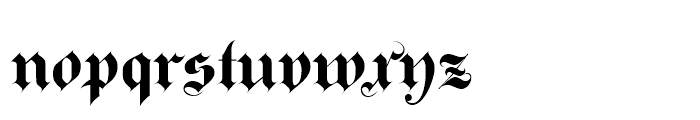 Bold Ayres Font LOWERCASE
