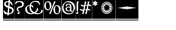 BonaVia Regular Font OTHER CHARS
