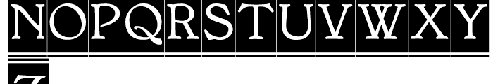 BonaVia Regular Font UPPERCASE