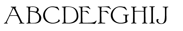Bonaventure Expanded Font UPPERCASE