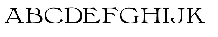 Bonaventure Expanded Font LOWERCASE