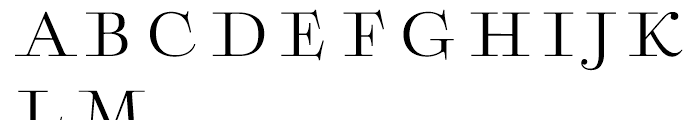 Boncaire Titling Regular Font LOWERCASE