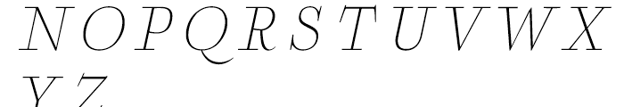 Boncaire Titling Thin Italic Font UPPERCASE