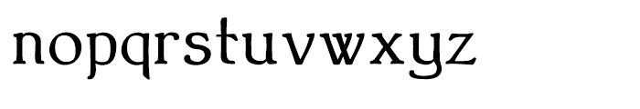 Bonning Bold Font LOWERCASE