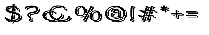 Bonning Wide Black Font OTHER CHARS