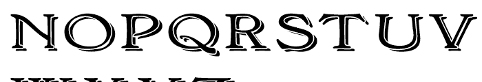 Bonning Wide Black Font UPPERCASE