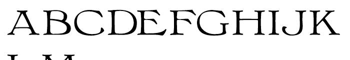 Bonning Wide Regular Font UPPERCASE