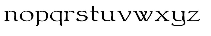 Bonning Wide Regular Font LOWERCASE
