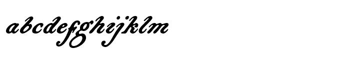 Bonnycastle Regular Font LOWERCASE