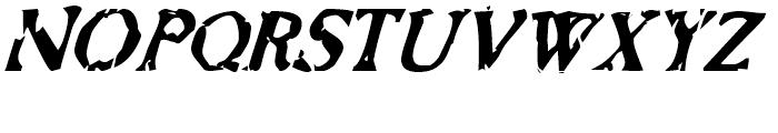 Bonray Italic Font UPPERCASE