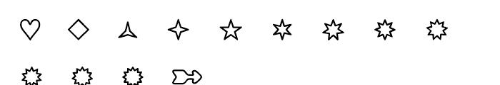 Boogie Outline 1 Font UPPERCASE