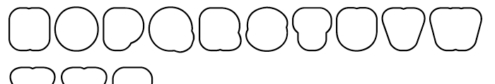 Boogie Outline 4 Font LOWERCASE