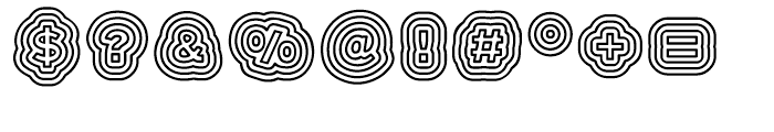 Boogie Regular Font OTHER CHARS