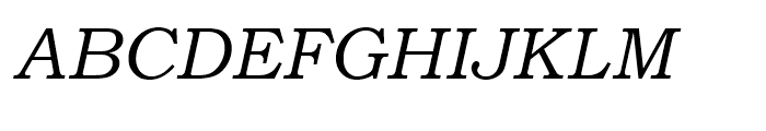 Bookman Old Style WGL Italic Font UPPERCASE