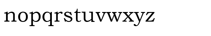 Bookman Old Style WGL Regular Font LOWERCASE