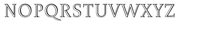 Borges Titulo Hueca Font UPPERCASE