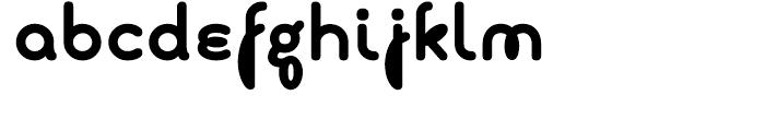 Boucle Round Bold Font LOWERCASE