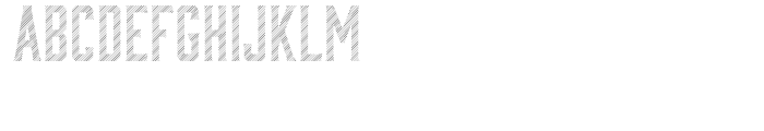 Bourbon Lines Font UPPERCASE