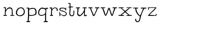 Bowler Hand Light Font LOWERCASE